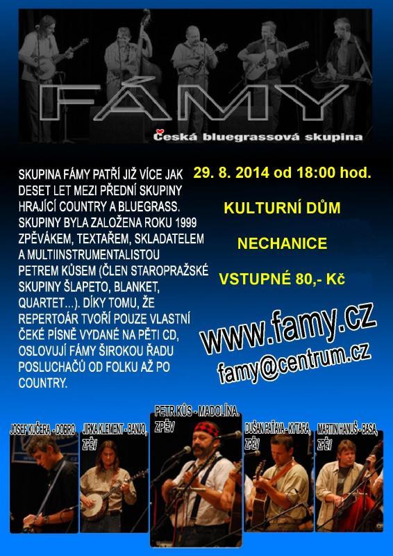 Koncert hudební skupiny FÁMY