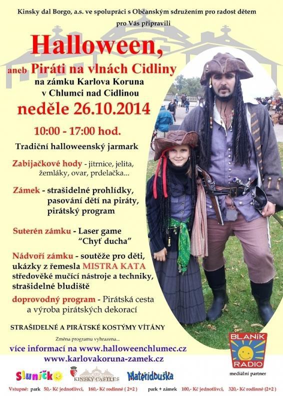 Halloween aneb piráti na vlnách Cidliny