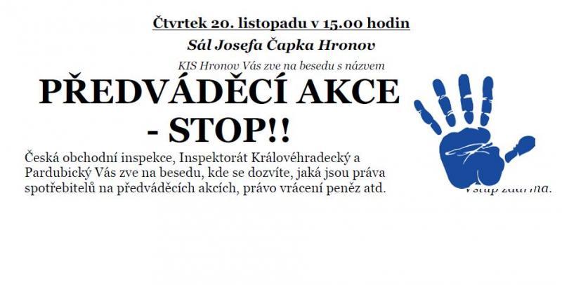 Předváděcí akce - STOP!!