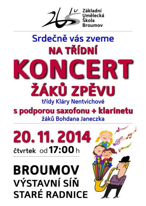 Koncert žáků zpěvu třídy Kláry Nentvichové