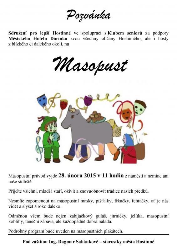 Masopust - Hostinné