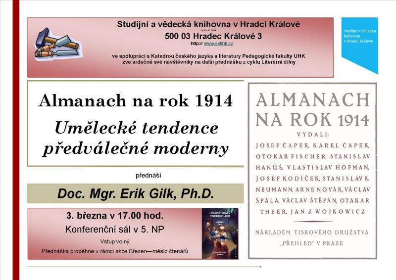 Literární dílny: Almanach na rok 1914: umělecké tendence předválečné moderny