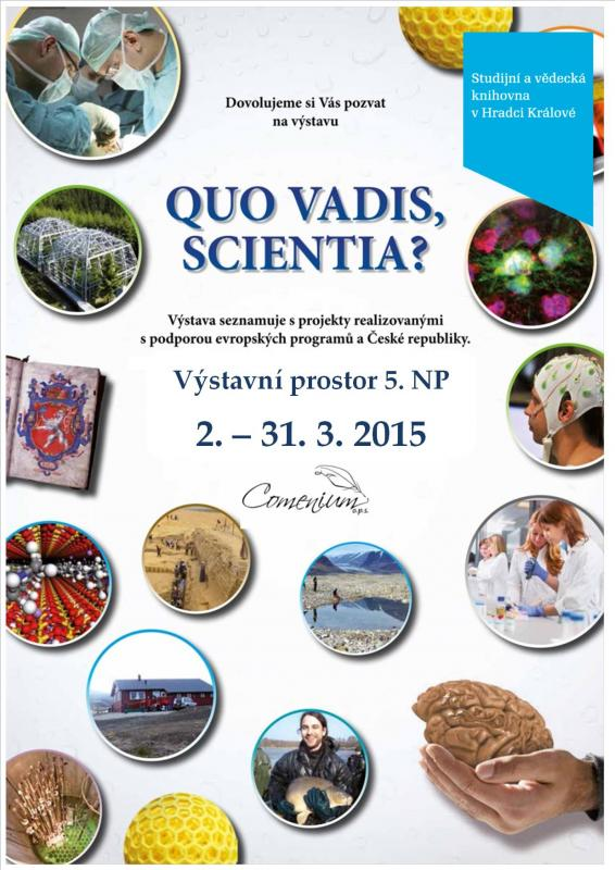 Výstava: Quo vadis, Scientia? - Udržitelnost výzkumných center