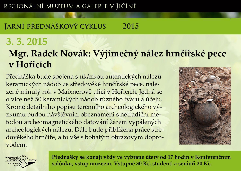 Výjimečný nález hrnčířské pece v Hořicích