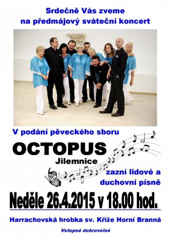 Předmájový koncert pěveckého sboru Octopus
