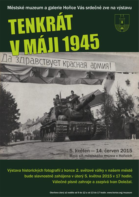 Výstava historických fotografií z konce 2. světové války v našem městě