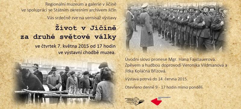 Vernisáž výstavy: Život v Jičíně za druhé světové války