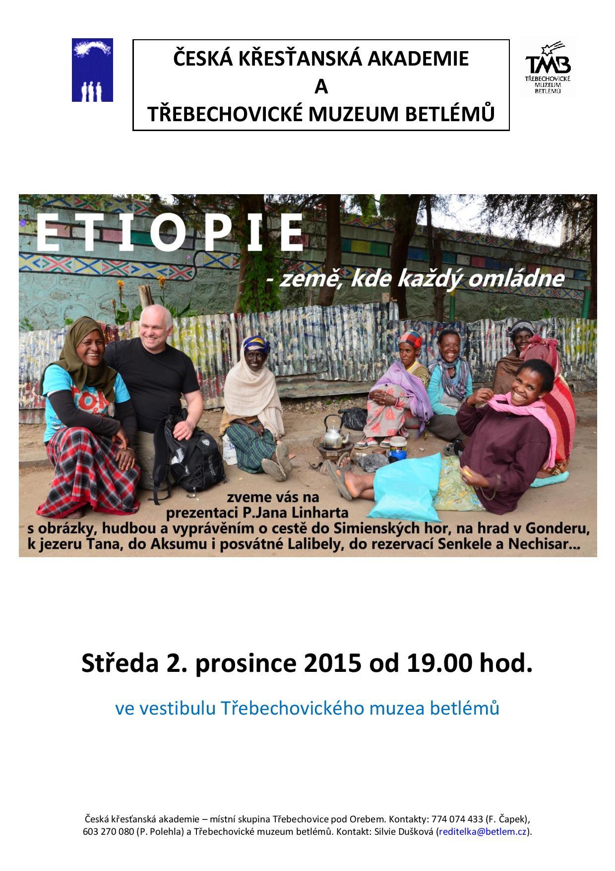 ETIOPIE -ZEMĚ, KDE KAŽDÝ OMLÁDNE