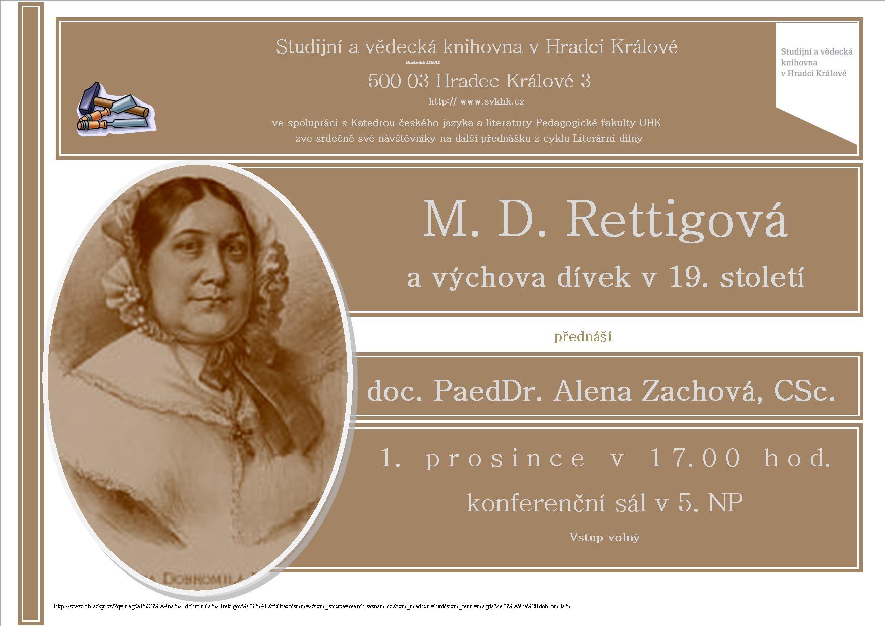 M. D. Rettigová a výchova dívek v 19. století
