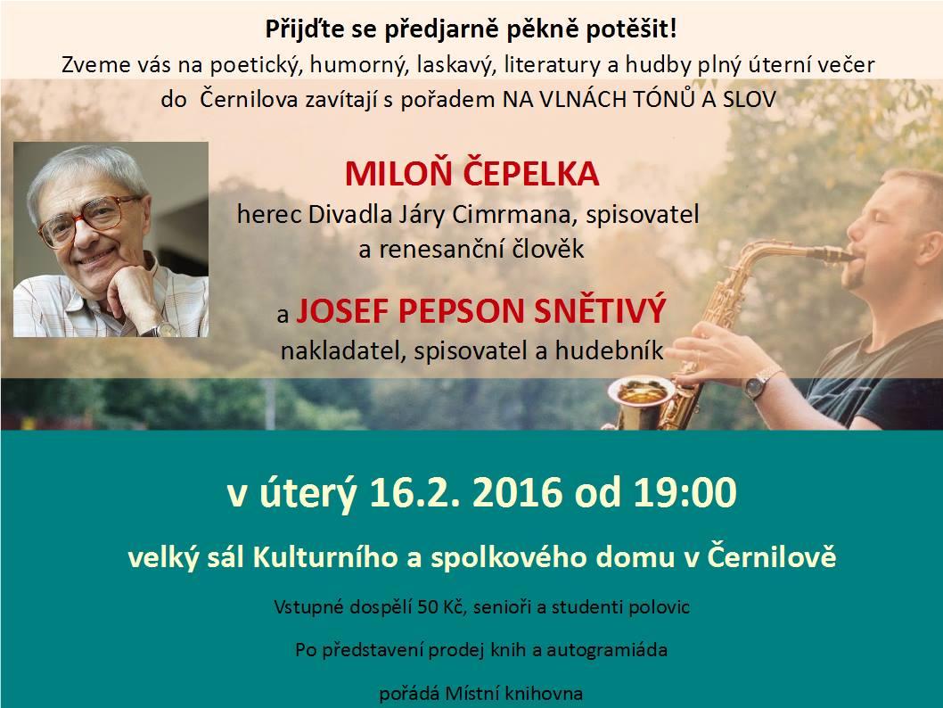 Na vlnách tónů a slov s Miloněm Čepelkou a Josefem Pepsonem Snětivým